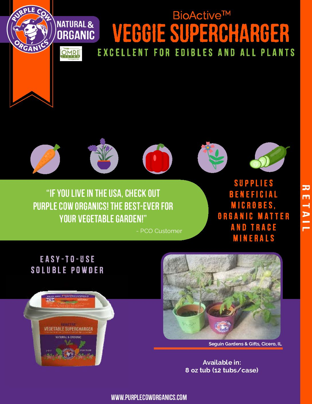 Garlic Complete Organic Fertilization Package - Vegetable Supercharger, All Purpose & CX1