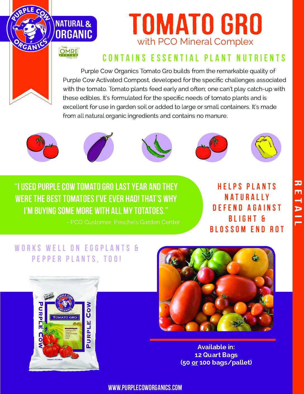Purple Cow Organics Tomato & Garlic Gro Compost