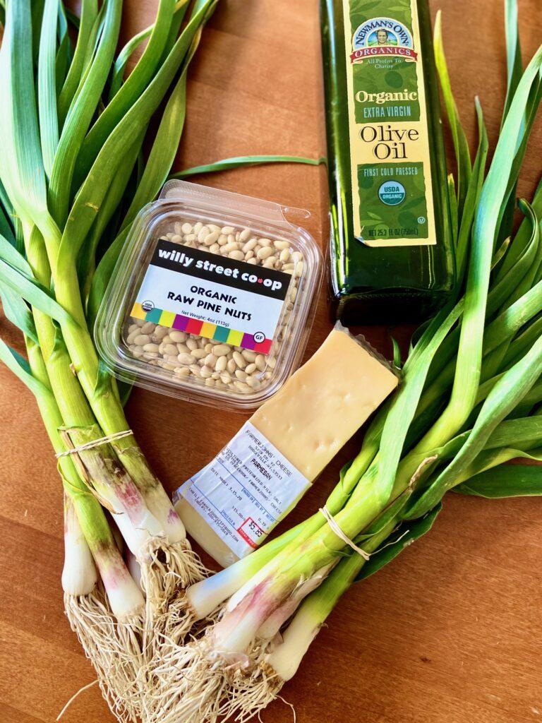 Green Garlic Pesto Ingredients
