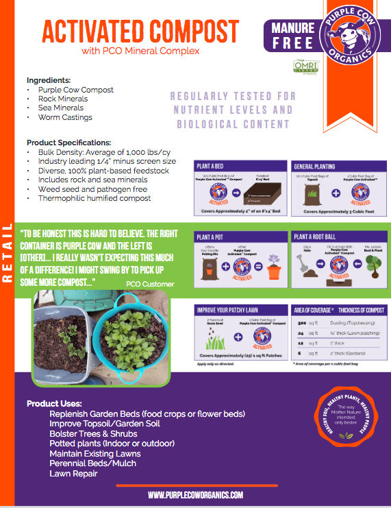 Purple Cow Organics Activated Compost